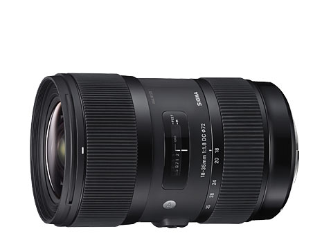 Sigma f 1.8 18 to 35mm lens