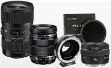 lenses adapters and filter hire