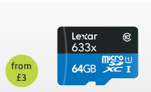64 Gigabyte Micro SDXC Memory Card hire
